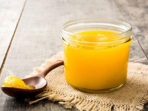 ghee mantequilla clarificada en pote