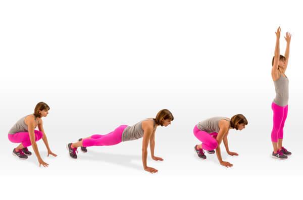 el mejor ejercicio para quemar grasa - los burpees