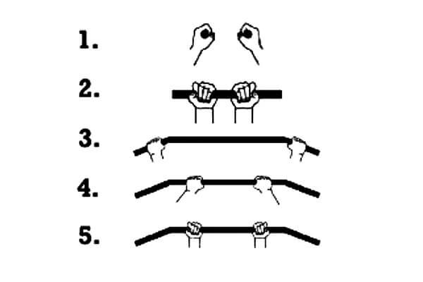 Tipos de agarre en las dominadas