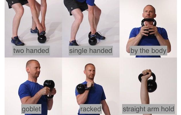 tipos de agarre en los ejercicios con kettebell