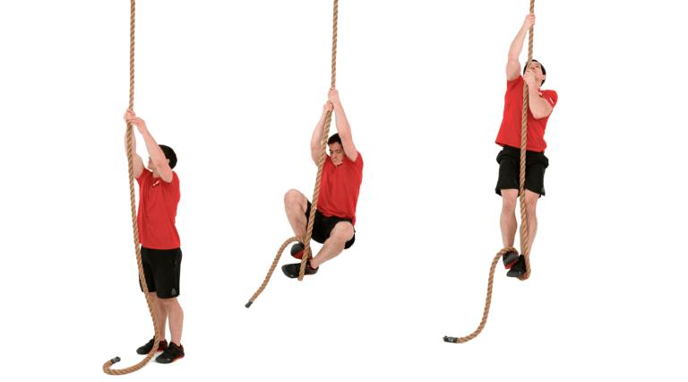 Ejercicios de crossfit: subir a la cuerda