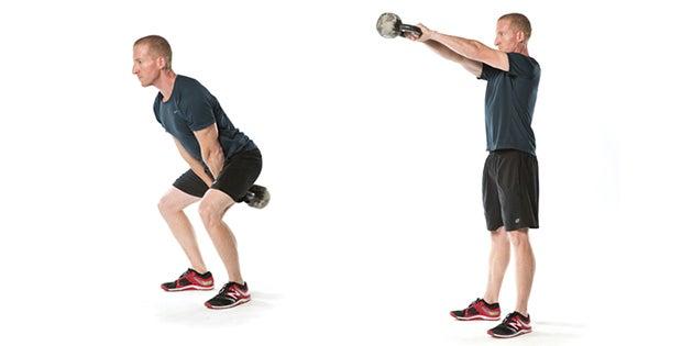 Ejercicios de espalda: Swing con peso