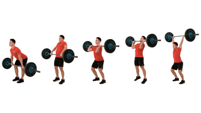 ejercicios con barra: clean and push