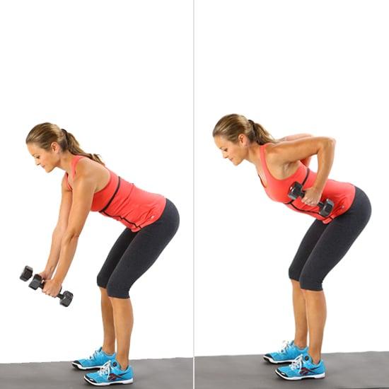 ejercicios con peso: remo con dos manos