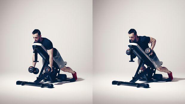 ejercicios de espalda remo a dos manos con soporte